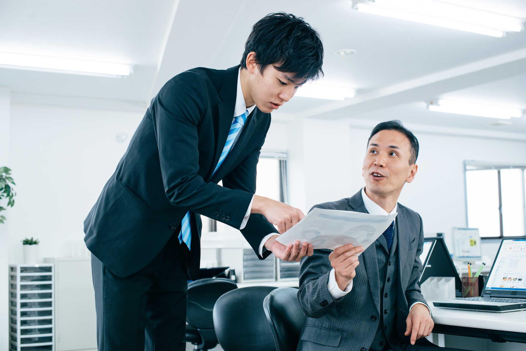 若手社員を指導・教育する上司